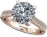 Macy's Diamond Enhanced Filigree Mount Setting (1/6 ct. t.w.) in 14k Rose Gold