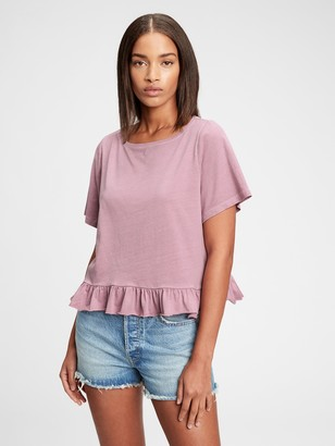 Gap Vintage Cropped Ruffle T-Shirt