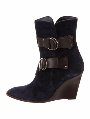 Givenchy Suede Boots Blue