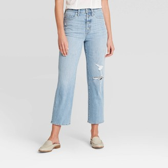 Universal Thread Women's High-Rise Vintage Straight Jeans - Universal Thread* Light Wash