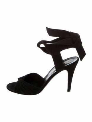Valentino Suede Sandals Black