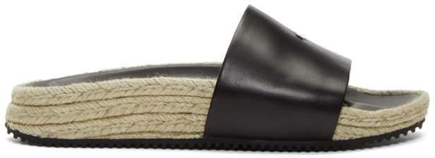 Alexander Wang Black Leather Suki Sandals