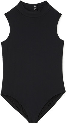 Cover Sleeveless High-Neck Swimsuit