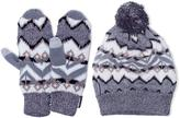 Muk Luks Geo-Tribal Slouch Beanie And Mittens Set