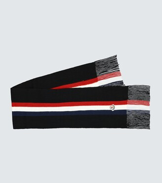 Moncler Wool ribbed scarf