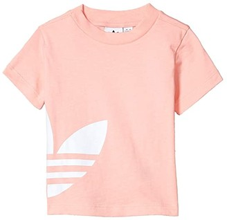 adidas Kids Kids Big Trefoil Tee (Infant/Toddler) (Glory Pink/White) Kid's Clothing