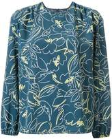 TOMORROWLAND scribble print blouse