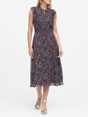 Banana Republic Petite Floral Fit-and-Flare Dress