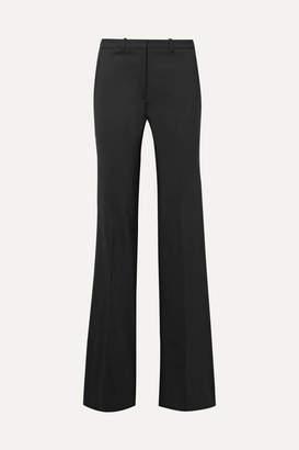 Theory Demitria Stretch-wool Flared Pants - Black