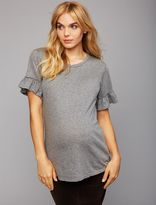A Pea in the Pod Sleeve Detail Maternity T Shirt