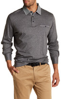Thomas Dean Long Sleeve Contrast Collar Shirt