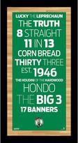 """Steiner Sports Boston Celtics 19"""" x 9.5"""" Vintage Subway Sign"""