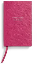 Smythson 'Inspirations And Ideas - Panama' Pocket Notebook - Pink