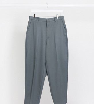 Reclaimed Vintage inspired wide leg smart pants in dark gray