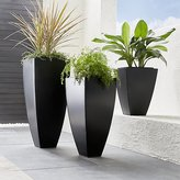 Crate & Barrel Bronze Tall Tapered Planters