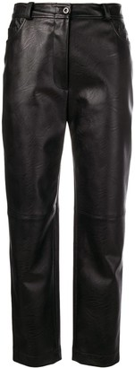 Stella McCartney Eco Leather Cropped Trousers