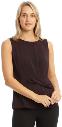 Basque Drape Front Blouse