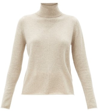 Allude Roll-neck Cashmere Sweater - Beige