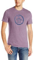 Original Penguin Men's Triblend Distressed Circle Logo T-Shirt