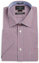 Black Brown 1826 Gingham Button Front Shirt