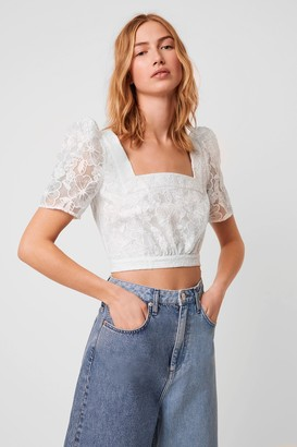 French Connenction Baintana Lace Crop Top