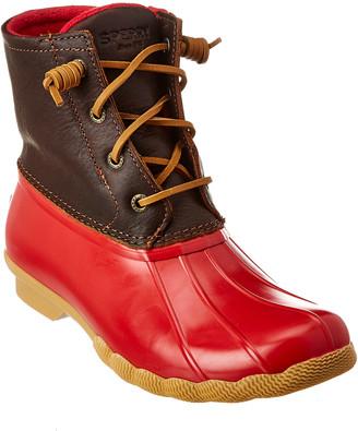 Sperry Saltwater Waterproof Leather Duck Boot