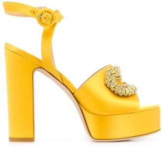 Giannico Platform Open-Toe Sandals