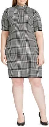 Chaps Plus Short-Sleeve Sweater Dress