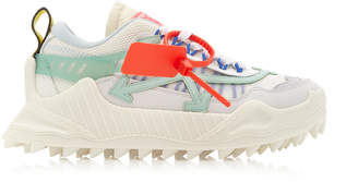 Off-White Off White C/O Virgil Abloh Odsy-1000 Low-Top Suede and Mesh Sneakers