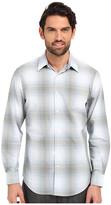 Perry Ellis Large Ombre Plaid Pattern Shirt