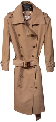 Elisabetta Franchi Beige Cotton Trench Coat for Women