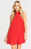MUMU V-Right Back Mini Dress ~ Red Head Chiffon