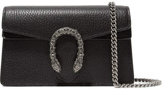 Gucci Dionysus Super Mini Textured-leather Shoulder Bag - Black
