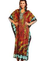 Unbranded Adies Kaftan Maxi Plus Size Beach Cover Kimono Retro18 20 22 24 26