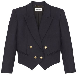 Saint Laurent Double-Breasted Wool Jacket