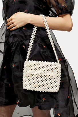 Topshop PRINCE White Pearl Grab Bag
