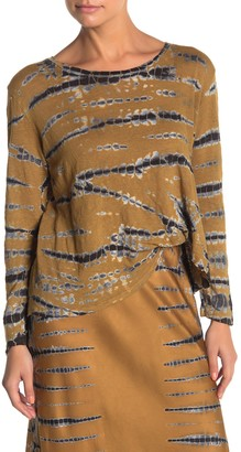 Young Fabulous & Broke Yfb By Twister Tie Dye Long Sleeve Linen T-Shirt