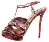 Nicholas Kirkwood Snakeskin T-Strap Sandals