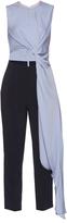 Roksanda Thurloe cut-out knot-front crepe jumpsuit