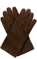 Lanvin Wool and cashmere-blend lined suede gloves