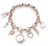 Anne Klein Rose Goldtone Charm Watch