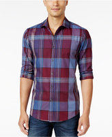 Alfani Men's Big and Tall Long-Sleeve Plaid Shirt, Only at Macy's