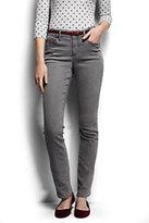 Classic Women's Petite Mid Rise Straight Jeans-Light Smoke