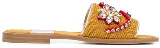 Premiata Braided Embellished Slides