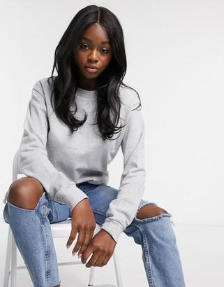ASOS DESIGN ultimate organic cotton sweatshirt in gray marl