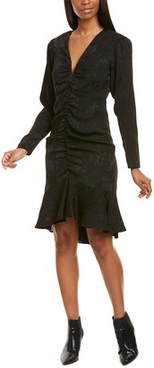 Nicole Miller Floral Crepe Sheath Dress