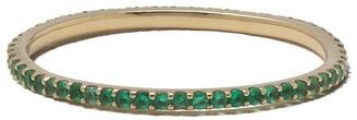 Solange White Bird 18kt yellow gold emerald ring