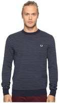 Fred Perry Textured Yarn Stripe Crew Neck