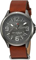 Tommy Hilfiger Men's 'SPORT' Quartz Resin and Leather Casual Watch, Color:Brown (Model: 1791335)