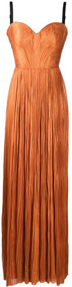 Maria Lucia Hohan Rayna pleated silk gown